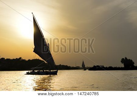 Cairo, Egypt  - Traditional boats named