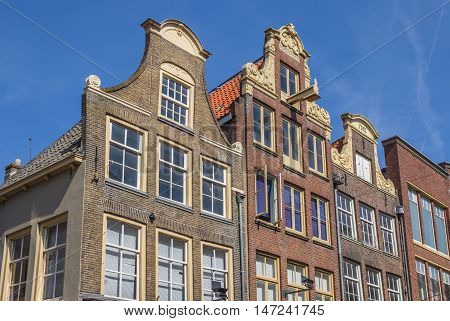 Decorated facades in the historical center of Zwolle Holland