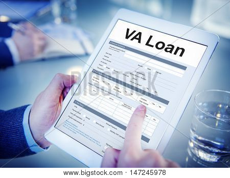 VA Loan Veterans Affair Concept