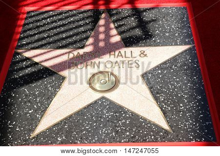 LOS ANGELES - SEP 2:  Daryl Hall & John Oates Star at the Hall & Oates Hollywood Walk of Fame Star Ceremony on Hollywood Boulevard on September 2, 2016 in Los Angeles, CA