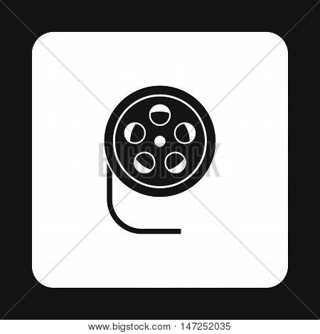 Film reel icon in simple style on a white background vector illustration
