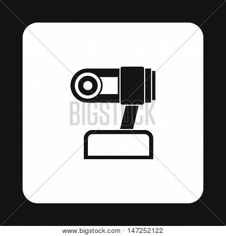 Webcam icon in simple style on a white background vector illustration