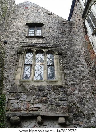 Medieval house photographed at Tenby in Pembrokeshire