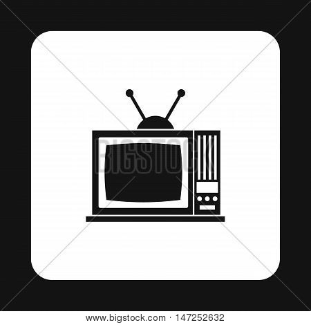 Retro TV icon in simple style on a white background vector illustration