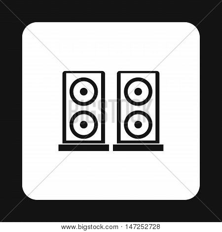 Two audio speakers icon in simple style on a white background vector illustration