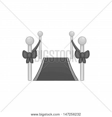 Stars carpet icon in black monochrome style isolated on white background. Rewarding symbol vector illustration