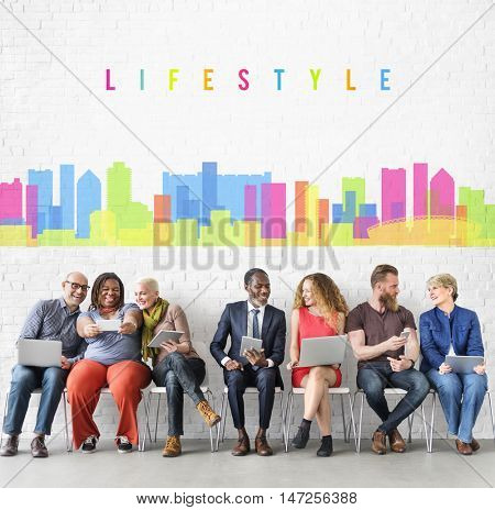 Lifestyle Chill Relax Fun Enjoyment Graphic Concept
