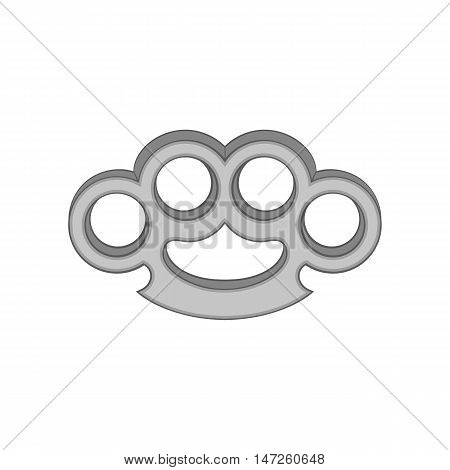 Knuckles icon in black monochrome style isolated on white background. Tool symbol vector illustration