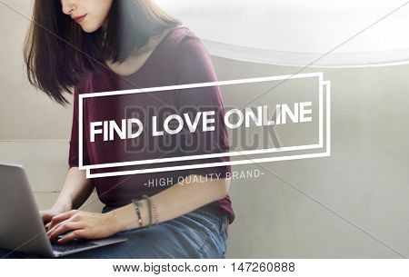 Find Love Online Chat Searching Social Network Concept