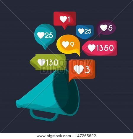 gadget like notification icon vector illustration design