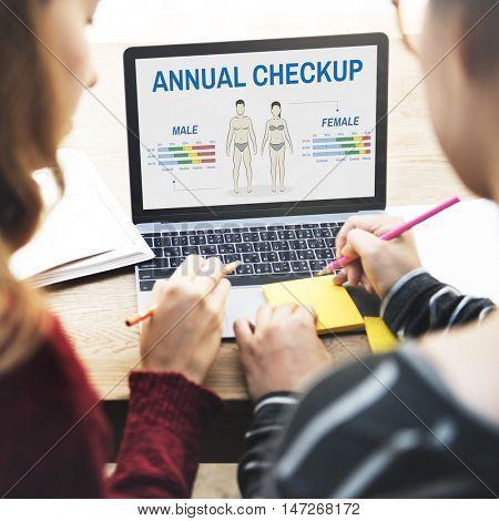 Health Check Annual Checkup Body Biology Concept