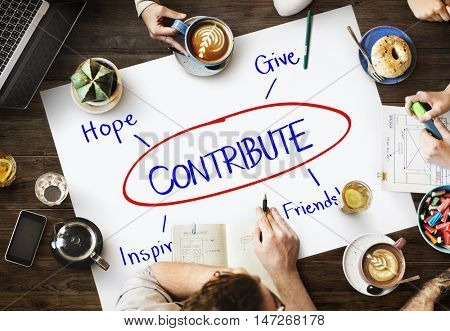 Contribute Support Care Assistance Help Concept