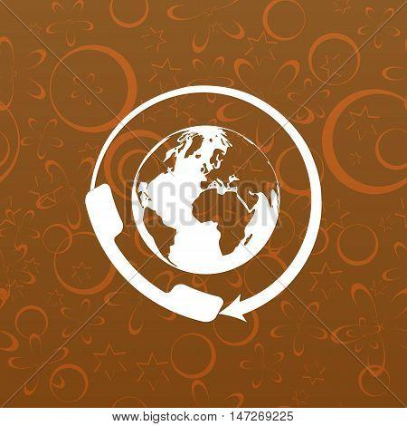 Worldwide Customer Support Call-center. Flat Icon