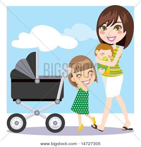 Moeder wandelen