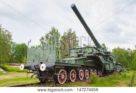 Soviet 305-mm Railroad Gun From Wwii Period