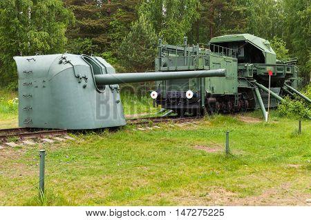 Military Monument In Krasnaya Gorka Fort