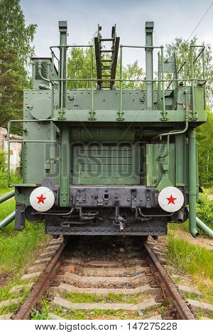 Tm-1-180 Railway Gun, Front View