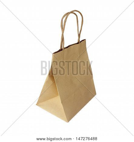 The Paper bag isolated on white background