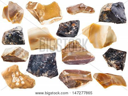 Collection From Specimens Of Flint Stone