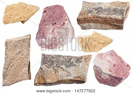 Collection From Specimens Of Sandstone Rocks