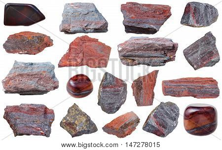 Collection From Specimens Of Jaspillite Mineral