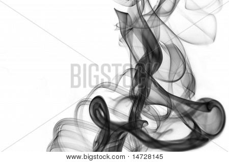 abstract smoke on white background