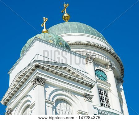 Cathedral at Senate Square in Helsinki Finland