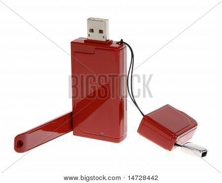 Rojo módem con Cable Usb