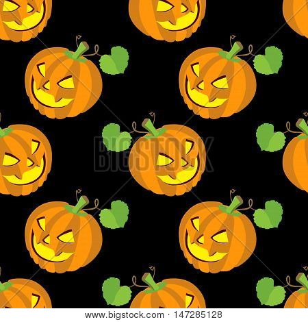 Seamless halloween backgrounds. Vector illustration. Seamless pattern of pampkins
