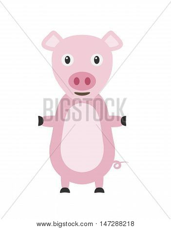 Funny Pig Character