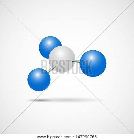 Vector sign nucleus of an atom nuclear energy