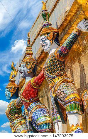 Guardian of Wat Pra Kaew Grand Palace Bangkok Thailand