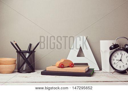 Business desk with pencils website header hero image