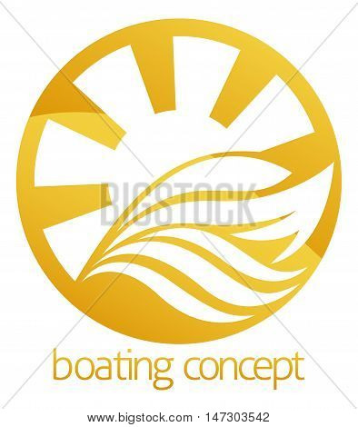 Speed Boat Or Yacht Circle Design