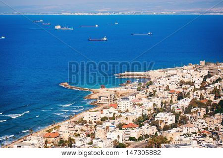 View On Haifa Coastline, Israel