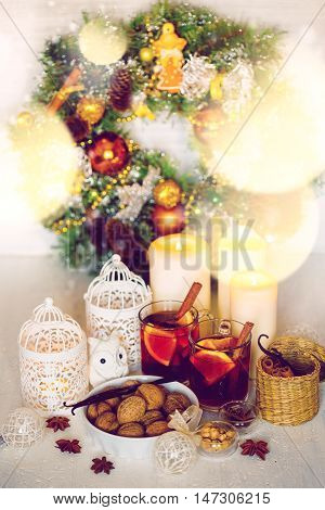 Christmas Decorations With Festive Mood