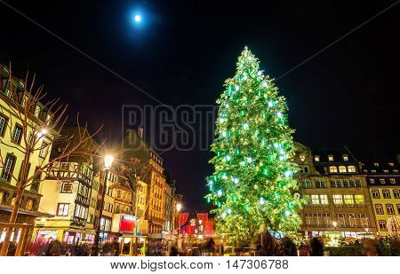 Christmas tree at the famous Christmas Market in Strasbourg, 2015