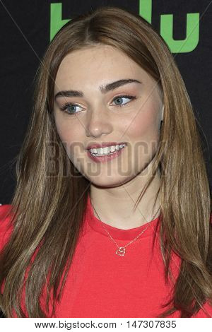 LOS ANGELES - SEP 10:  Meg Donnelly at the PaleyFest 2016 Fall TV Preview - ABC at the Paley Center For Media on September 10, 2016 in Beverly Hills, CA