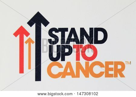 LOS ANGELES - SEP 9:  Stand Up to Cancer Emblem at the 5th Biennial Stand Up To Cancer at the Walt Disney Concert Hall on September 9, 2016 in Los Angeles, CA