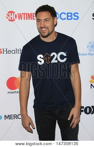 LOS ANGELES - SEP 9:  Klay Thompson at the 5th Biennial Stand Up To Cancer at the Walt Disney Concert Hall on September 9, 2016 in Los Angeles, CA