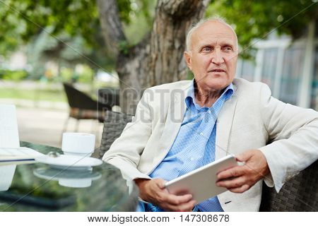 Senior businessman at break