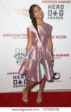 LOS ANGELES - SEP 10:  Asia Monet Ray at the 2016 American Humane Hero Dog Awards at the Beverly Hilton Hotel on September 10, 2016 in Beverly Hills, CA