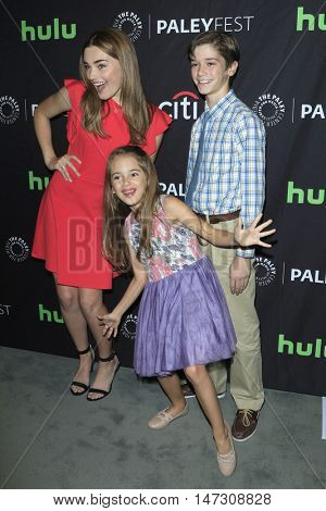 LOS ANGELES - SEP 10:  Meg Donnelly, Julia Butters, Daniel DiMaggio at the PaleyFest 2016 Fall TV Preview - ABC at the Paley Center For Media on September 10, 2016 in Beverly Hills, CA