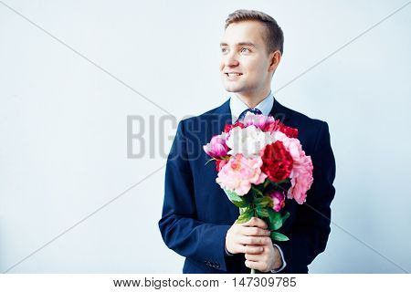 Lover with flowers