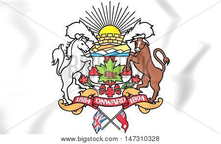 Calgary Coat Of Arms, Canada. 3D Illustration.