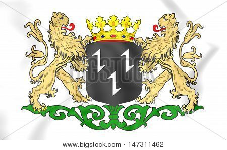 Purmerend Coat Of Arms (north Holland), Netherlands. 3D Illustration.