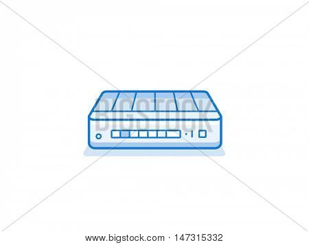 Home network router icon. Network equipment for home. Data network hardware series vector illustration