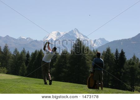 Golf Drive In Crans Montana