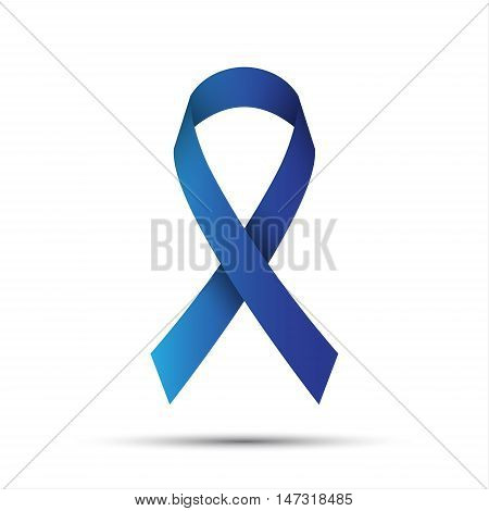 Blue ribbon isolated on white background vector illustration