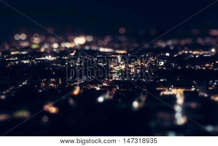 Night View Above Phuket Town